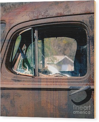 Window In Rural America  Wood Print by Steven Digman