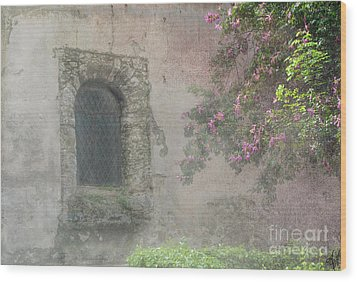 Window In The Wall Wood Print