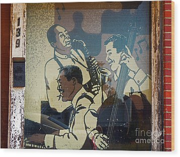 Window Jazz Wood Print