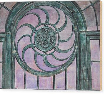 Window Memory Wood Print by Judy Riggenbach
