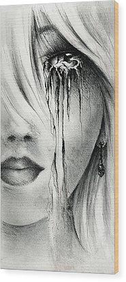 Window Of The Soul Wood Print by Rachel Christine Nowicki