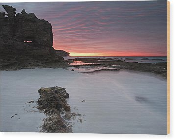 Window On Dawn Wood Print by Mike  Dawson