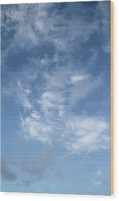 Window On The Sky In Israel During The Winter Wood Print by Yoel Koskas