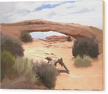 Wood Print featuring the digital art Window On The Valley by Gary Baird