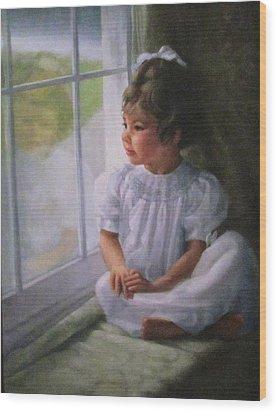 Window Seat Wood Print by Janet McGrath