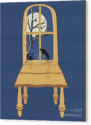 Window Seat Wood Print by Laura Brightwood