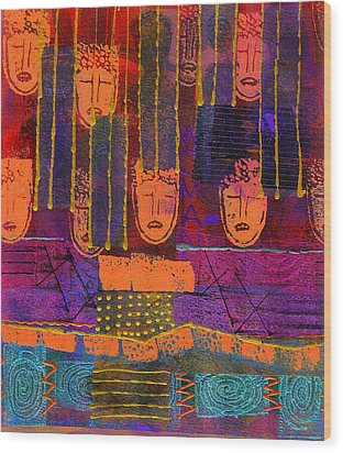 Window Shopping Wood Print by Angela L Walker