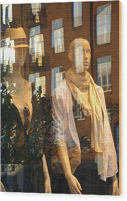 Window Shopping Wood Print by Michael Canning