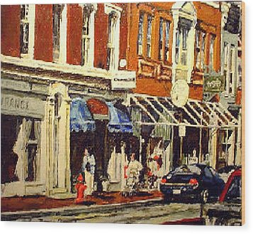 Window Shopping Wood Print by Thomas Akers