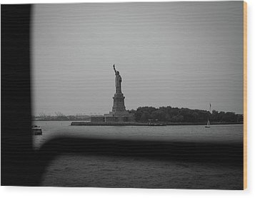 Wood Print featuring the photograph Window To Liberty by David Sutton
