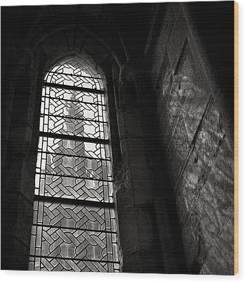 Window To Mont St Michel Wood Print by Dave Bowman