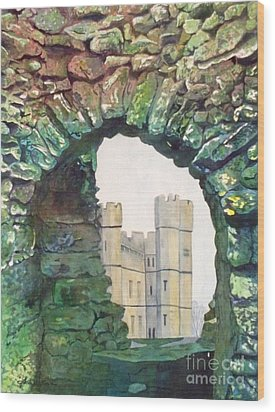 Wood Print featuring the painting Window To The Past by LeAnne Sowa