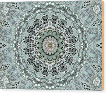 Window To The World Mandala Wood Print by Janusian Gallery