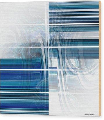 Window To Whirlpool Wood Print