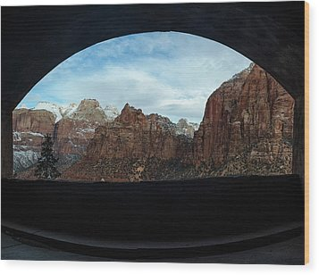 Window To Zion Wood Print
