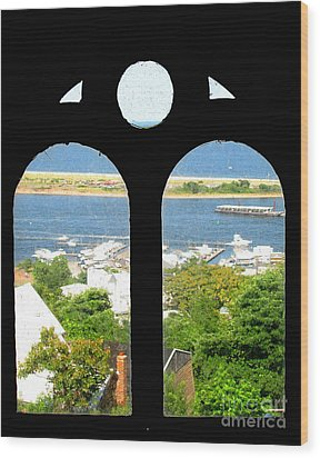 Window View Wood Print by Colleen Kammerer