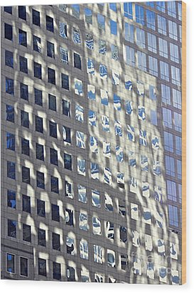 Wood Print featuring the photograph Windows Of 2 World Financial Center 2 by Sarah Loft
