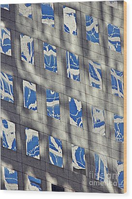 Wood Print featuring the photograph Windows Of 2 World Financial Center 3 by Sarah Loft
