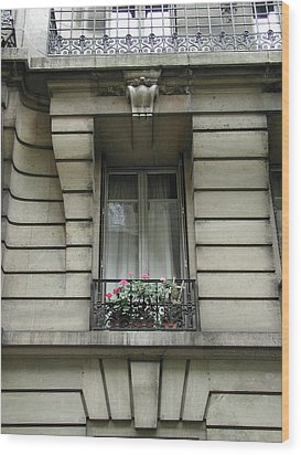 Wood Print featuring the photograph Windows Of Paris by Nancy Taylor
