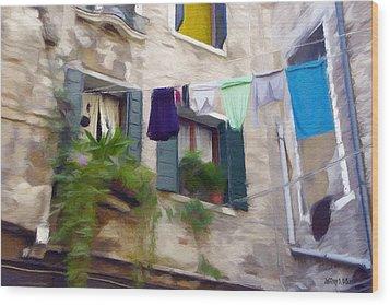 Windows Of Venice Wood Print