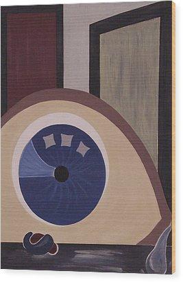Windows To The Soul Wood Print by Sandy Bostelman