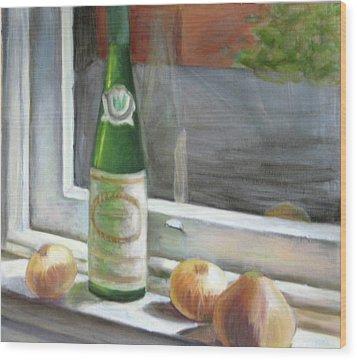 Windowsill Still Life Wood Print by Deborah Dendler