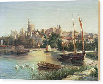Windsor From The Thames   Wood Print by Robert W Marshall