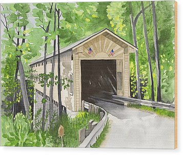 Windsor Mills Bridge Wood Print