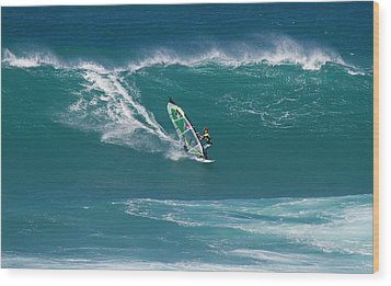 Windsurfer At Hookipa, Maui Wood Print