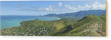 Windward Oahu Panorama IIi Wood Print by David Cornwell/First Light Pictures, Inc - Printscapes