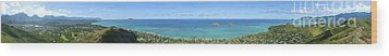 Windward Oahu Panoramic Wood Print by David Cornwell/First Light Pictures, Inc - Printscapes