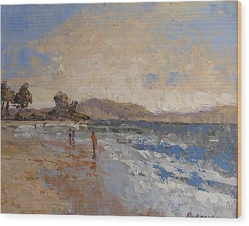 Windy Day At Sea Wood Print by Yvonne Ankerman