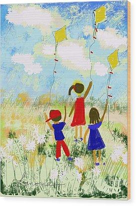 Windy Days Wood Print by Elaine Lanoue