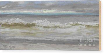 Windy Hill Beach - Myrtle Beach, Sc Wood Print by Terri  Meyer