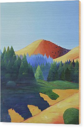 Windy Hill Triptych I Wood Print by Gary Coleman