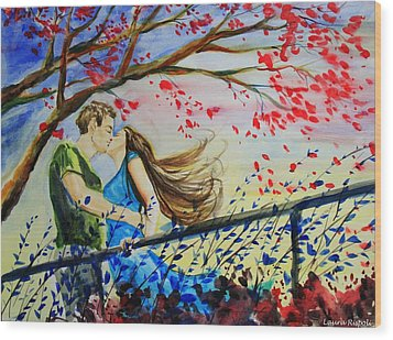 Windy Kiss Wood Print by Laura Rispoli