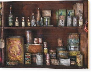 Wine - Rum And Tobacco Wood Print by Mike Savad