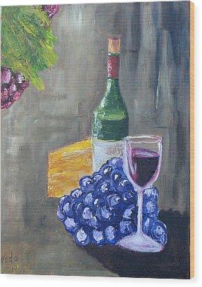 Wine And Cheese Wood Print by Craig Wade