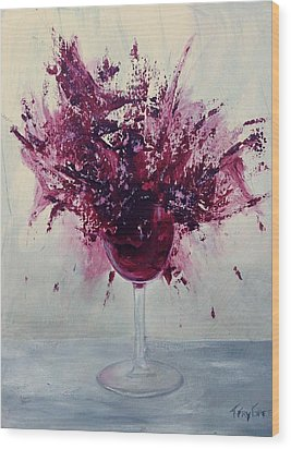 Wine Bouquet Wood Print by T Fry-Green
