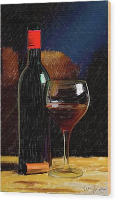Wine Cellar 01 Wood Print by Wally Hampton