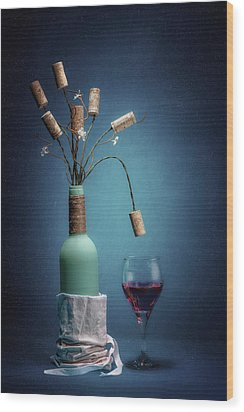 Wood Print featuring the photograph Wine Cork Bouquet by Tom Mc Nemar