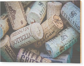 Wood Print featuring the photograph Wine Corks by April Reppucci