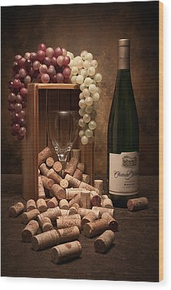Wine Corks Still Life II Wood Print