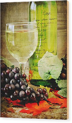 Wine Wood Print by Darren Fisher