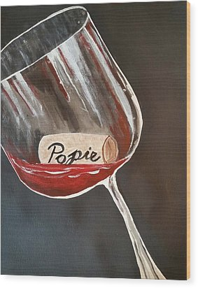 Wine Glass Wood Print