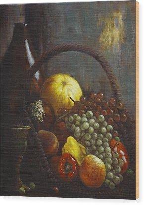 Wine Goblet Wood Print by Harvie Brown