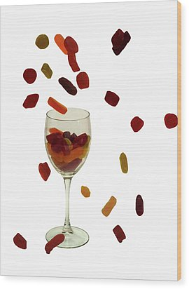 Wood Print featuring the photograph Wine Gums Sweets by David French