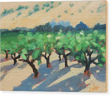 Wood Print featuring the painting Wine Habitat by Gary Coleman