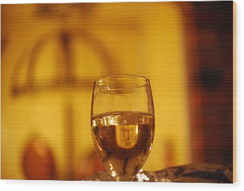 Wine In The Kitchen Wood Print by Peter  McIntosh