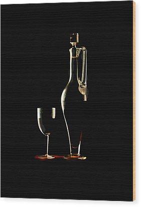 Wine Wood Print by Jon Daly